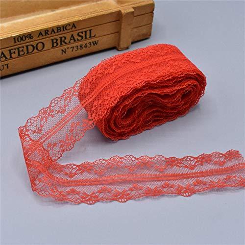 10 meter wit kant lint tape 40mm brede rand diy handwerk geborduurd net koord voor naaien decoratie afrikaanse kant stof, rood