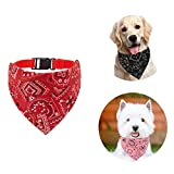 Shengruili Collar con Bandanas para Perro,para Collar de Perro Triángulo,Pañuelos para Perros,Baberos para Mascotas,Cuello PañUelo para Perros,Bandana Lavable para Perro,Pajaritas para Mascotas (F)
