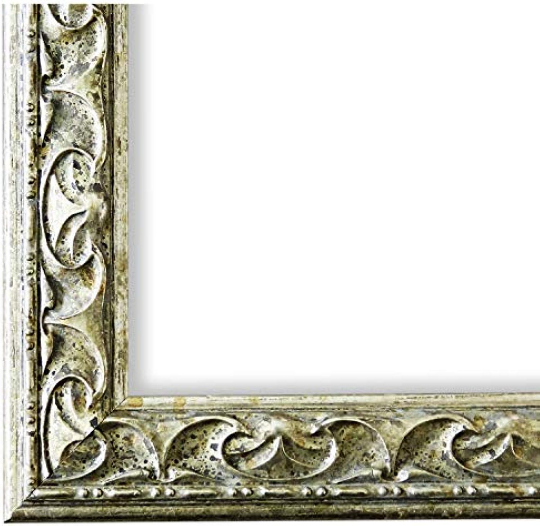 Online Galerie BinGold Bilderrahmen Silber 60x80-60 x 80 cm - Antik, Barock - Alle Gren - handgefertigt in Deutschland - WRF - Mantova 3,1