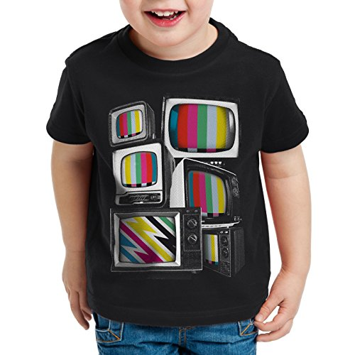 style3 Vintage TV Camiseta para Niños T-Shirt Monitor televisión, Talla:164