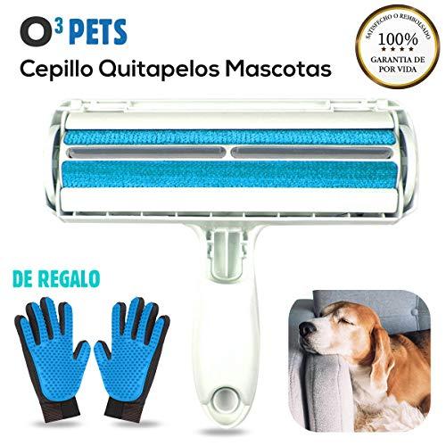 O³ PETS Quitapelos Y Rodillos para Mascotas con Guante De Limpieza | Roller Anti Pelo De Mascota – Quita Pelos Gato Y Perro – Cepillo Recoge Pelos Mascotas