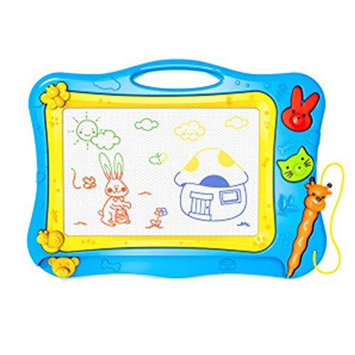 XuZeLii Caballete para Niños La Escritura Bloc de Dibujo borrable Junta Garabato garabatos de Colores for los niños pequeños Juguetes de Aprendizaje Regalos Adecuados para Niños