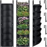 Il pacchetto include: riceverai 2 fioriere da giardino a parete verticale e 4 ganci da appendere da 6 pollici, la dimensione della fioriera è di ca. 107 x 30 cm/ 43 x 12 pollici e ogni fioriera da giardino ha 7 tasche, ogni tasca misura ca. 27 x 14 c...