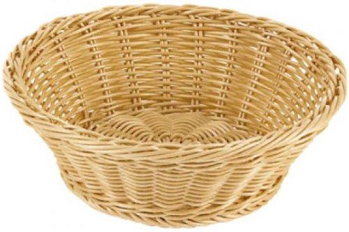 Paderno World Cuisine Reinforced Round Polyrattan Bread Basket, 10 1/8-Inch