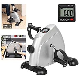 CCDV Magnetic Mini Exercise Bike with Digital Monitor,Stationary Exercise Bike Peddler Mini Cycle Bike Compact Under The Desk Bike Pedal for Arms and Legs Workout While Sitting