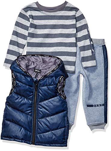 DKNY Boys' Little 3 Piece Set, Nassau Street Dress Blues, 7