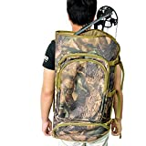 SHARROW Archery Compound Bow Case Archery Backpack Hunting Shoulder Compound Bow Bag (Camo)