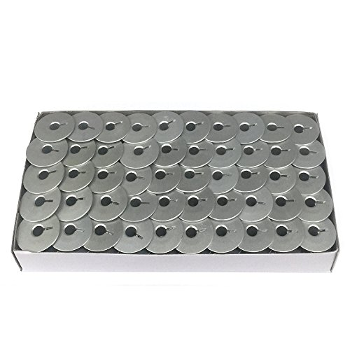 Cutex (TM) Brand 100 Aluminum Bobbins for Long Arm Quilting Machine (Viking Mega Quilter 18, Pfaff Grand Quilter 18 Machines & More)