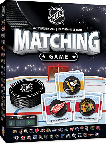 MasterPieces NHL Matching Game, 64 Cards, For Ages 3+