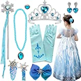 Disfraz Frozen Accesorios,Conjunto Accesorios de Princesa del Hielo,Princesa Vestir Accesorios,Princesa Disfraz Accesorios,Corona Varita Mágica Trenza y Guantes,para niñas Princesa Cosplay