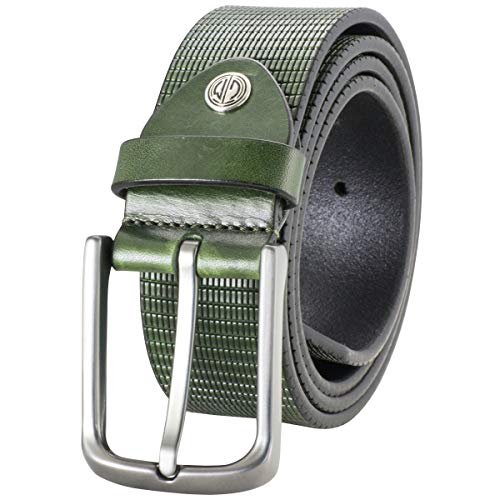 Gürtel Herren Ledergürtel Herren/Gürtel Herren, Vollrindleder, 40 mm, flaschengrün, Farbe/Color:grün, Size US/EU:Waist Size 37.5 IN L EU 95 cm
