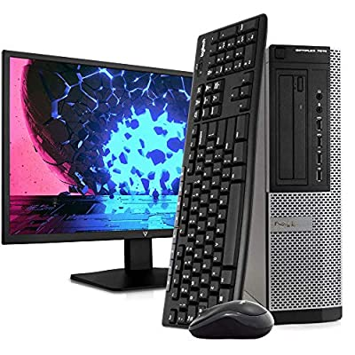 "Dell OptiPlex 7010 PC Desktop Computer, Intel i5-3470 3.2GHz, 8GB RAM, 1TB HDD, Windows 10 Pro, New 23.6"" FHD LED Monitor, Wireless Keyboard & Mouse, New 16GB Flash Drive, DVD, Wi-Fi (Renewed)"