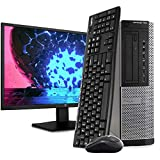 Dell OptiPlex 7010 Desktop PC Computer, Intel i5-3470 3.2GHz, 16GB RAM, 2TB HDD, Windows 10 Pro, New 23.6' FHD LED Monitor, Wireless Keyboard & Mouse, New 16GB Flash Drive, DVD, Wi-Fi (Renewed)
