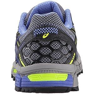 ASICS Women's Gel-Kahana 8 Trail Runner, Aluminum/Black/Flash Yellow, 7 M US