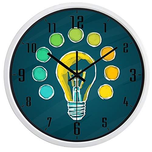 Horloge Murale Ampoule Créative Idea Design Horloge Murale 14 Pouces B155W