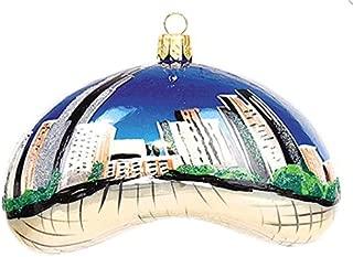 Chicago Bean Landmark Illinois Polish Glass Christmas Ornament Travel Souvenir Decoration