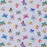 Tela de algodón con mariposas de colores - Precio por 0,5 metros