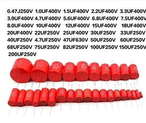 NO LOGO CCH-DRS, 2ST Axial MKP 1UF 50uF-25 22 35 30 20 18 15 12 10 4.8 5.6 47.7 3.3 2.2 1 400V Metallschichtkupplungs Divider Capacitor Ampl (Size : 400V 22UF)