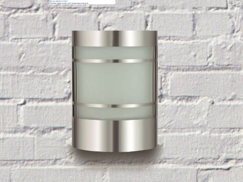 Wand-Außenleuchte aus Edelstahl und Glas IP44 Außenlampe Hoflampe Gartenlampe 1010