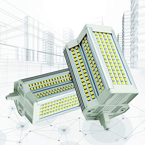 2-PC Bombilla LED R7s 118mm Regulable 50W 3000-6000K 500W Reflector de Doble Extremo Tipo J Bombillas LED Luces de inundación J118 Lámpara de Repuesto halógena,Warm Light