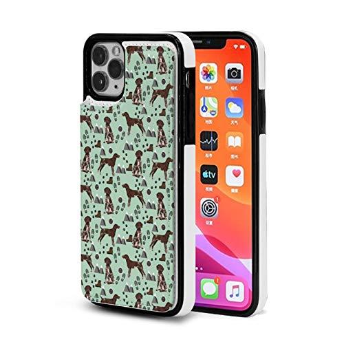Alemán Puntero De Pelo Corto Senderismo Caso Para iPhone 11 Pro Max Con Titular De La Tarjeta Lindo Cartera Para Mujeres Hombres