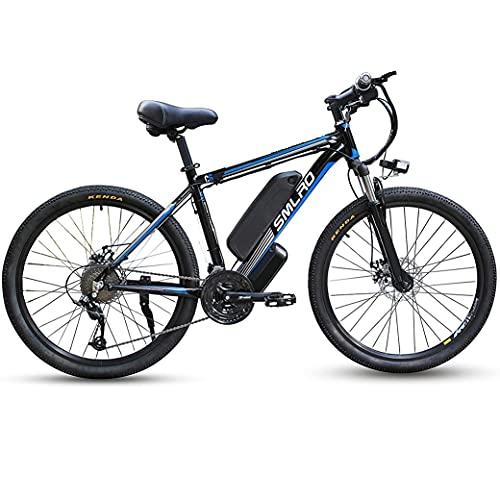 1000W Elektrofahrrad 26Zoll E-Bike Mountainbike, Abnehmbare 48V/13Ah Batterie /21-Gang-Getriebe/Höchstgeschwindigkeit 45km/h/Kilometerstand Aufladen Bis zu 80-110km,EU Warehouse