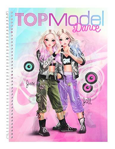 Depesche 10202Libro para Colorear Pegatinas y diseño Fun Dance, TOPModel, Multicolor