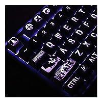 1ハイエンドバックライト付きキーキャップについてはK70 K95プラチナメカニカルキーボードブラックホールのセットコーティングされたカバーキー 互換用キートップ (Colore : For Razer layout)