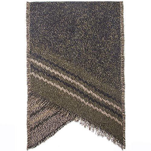 Memefood Bufanda de borla suave y cálida para mujer, mantón estampado retro envuelve manta