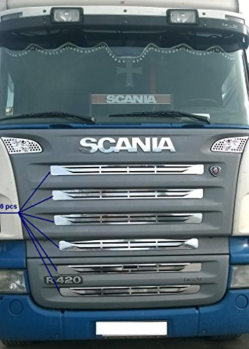1/ x acciaio INOX distintivo per Scania serie l decorazione anteriore Sign Scania l 94/ 104/ 11/ 124/ 144/ 164