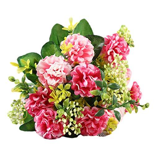 2PC Künstlicher Blumenstrauß mit Blättern Kunstpflanze Kunstblumen Künstliche Pflanze Blumen für Weihnachten Geburtstag Wohnzimmer Cafe Desktop Dekoration 30*20cm (Das gezeigte Muster ist 2PC )