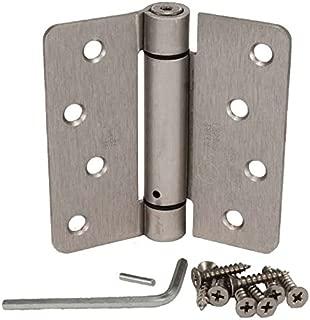 (Pack of 2) Hager Satin Nickel 4 X 4 Spring Door Hinges (1/4