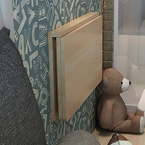 Tavolino Da tavolino Tavoli da parete in legno Pieghevole Pieghevole Pieghevole Computer Laptop Desk a muro Tavolo a foglia di goccia Pieghevole Cucina da pranzo Dining Scrivania facile da montare) Pi