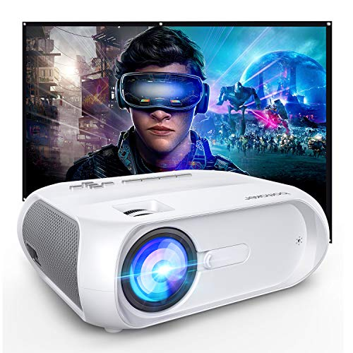 WiFi Projector 5500 Full HD, Ultra Portable Projector for Outdoor Movies, Compatible with iPhone/Android/Laptops/DVD Players/Windows