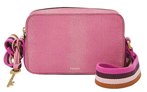 Fossil-Billie Kleine Umhängetasche aus geprägtem Leder mit rosa Eidechseneffekt für Frauen ZB7903690