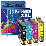 Tito-Express PlatinumSerie 16 Druckerpatronen XXL als Ersatz für EpsonT2991 T2992 T2993 T2994 29 XL   Für Expression Home XP 235 245 247 255 257 335 345 355 435 445 455