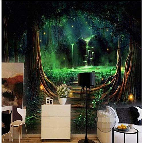 RTYUIHN Photo Wallpaper Wall Stickers Dream Forest Living Room Living Room Decoration Wall Wallpaper 3D Paper Organ Modern Wall Art Decoration