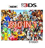 510 in 1 Game Cartridge,DS Game Pack Card Compilations,Compatible with Super...