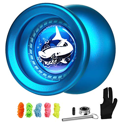 Magic Yoyo T9 Shark Responsive Yoyo for Kids, Beginner Learner Yoyo Metal YoYo + Glove +...