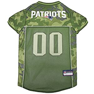 NFL New England Patriots Camouflage Dog Jersey, Large. - CAMO PET Jersey Available in 5 Sizes & 32 NFL Teams. Hunting Dog Shirt