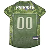 NFL New England Patriots Camouflage Dog Jersey, Large. - CAMO PET Jersey Available in 5 Sizes & 32 NFL Teams....