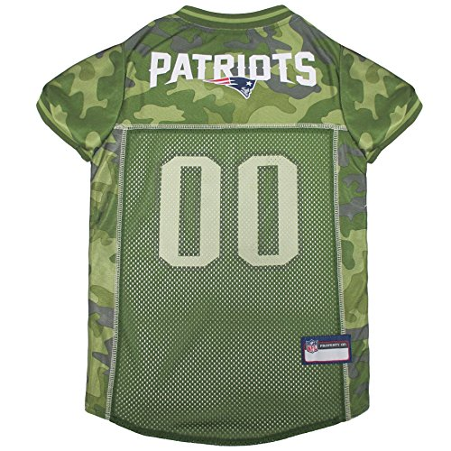 NFL New England Patriots Camouflage Dog Jersey, X-Large. - CAMO PET Jersey Available in 5 Sizes & 32 NFL Teams. Hunting Dog Shirt