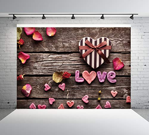 8x8FT Vinyl Photography Backdrop,Star,I Love You Romantic Valentine Background for Selfie Birthday Party Pictures Photo Booth Shoot