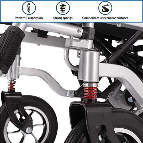 515p2OmTSIL. SL500  - MUJO Silla de ruedas eléctrica Plegable Ligera Deluxe Plegable Potencia de movilidad compacta Silla de ruedas Peso