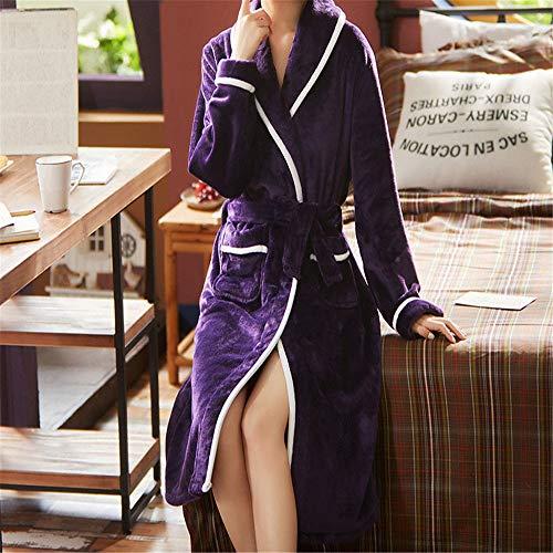 Camisón invierno coral terciopelo pareja pijama