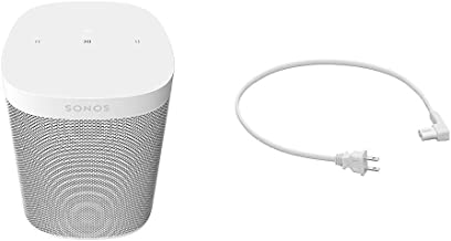 Sonos One SL - The Powerful Microphone-Free Speaker (White) with 19.7in (.5m) Power Cable for One and Play:1 (White)