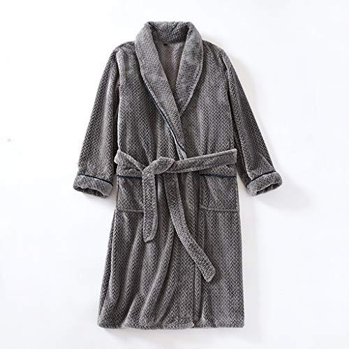 SCDZS Winter Plus Samt Nightgown Damen Bademantel Lose Plus Größe Verdickung...