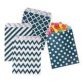 HIMETSUYA 100 Stück Candy Bar Tüten 4 süße Designs 7'' x 5'' Candy Tüten Geschenktüten Süssigkeiten Papiertüten Beutel Bonbon Taschen für Ostern Weihnachten Hochzeit Geburtstag Feier Parteien