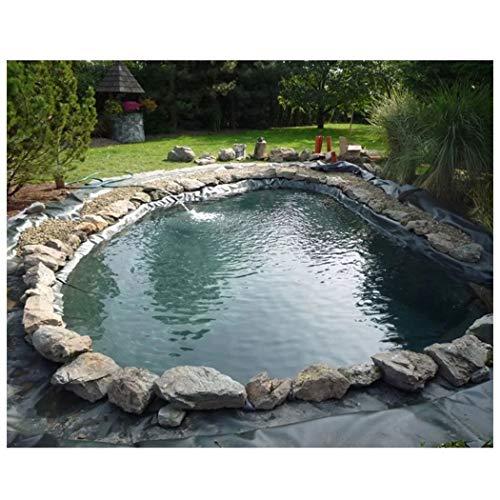 Teichfolien Liner Umweltfreundlich, Premium PE Teichfolie 3x2m Schwarz Fischteich Liner Tuch Hause Garten Pool für Gartenteich Stärke, UV-Beständig Reißfest, Mehrere Größen Erhältlich ( Size : 3x2m )