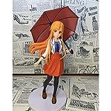 KPSHY Sword Art Online Anime Paraguas Ropa Casual Asuna Yuuki Asuna Figura Muñecas Decoración Versión Premium Estatua Muñeca Escultura Juguete Decoración Modelo Muñeca Altura 20cm